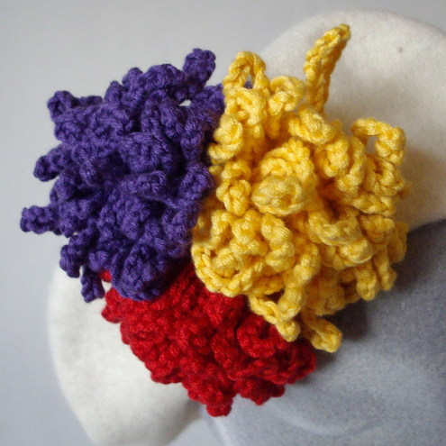 Bright Crochet Flower Corsages by Sophie's Stuff