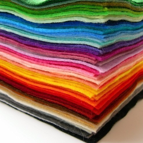coloured felt for craft projects