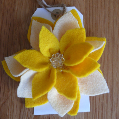 Felt Flower Corsage by Needles