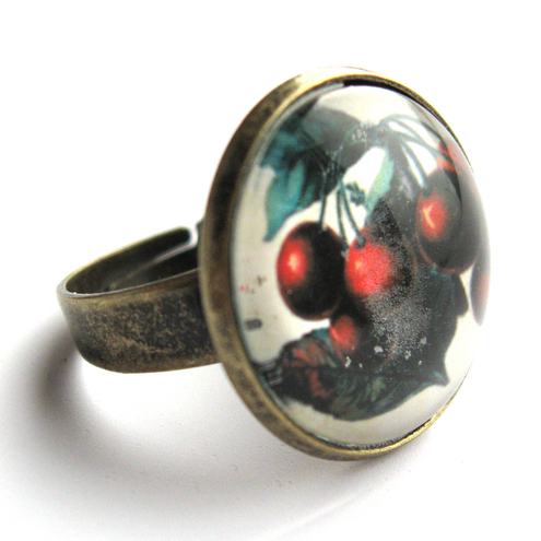 Vintage Cherries Ring, by Ruby Spirit