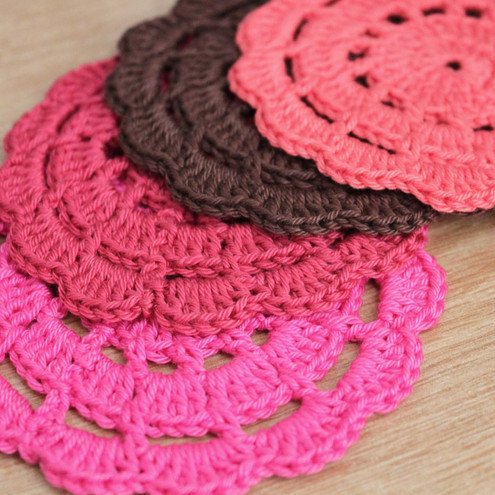 Free Crochet Pattern For Coaster : Alfa img - Showing > Pretty Crochet Coaster Patterns