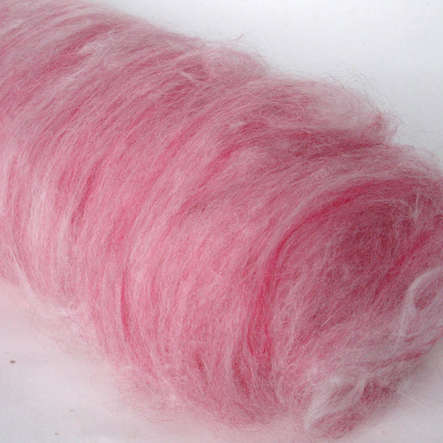 handcarded luxury batts - 'Strawberry Princess' ready for spinning or felting