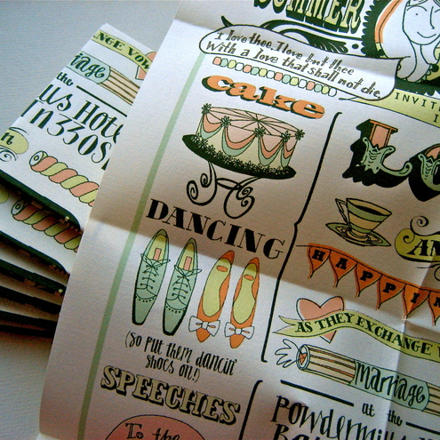Bespoke invitations for weddings, parties and other fancy affairs