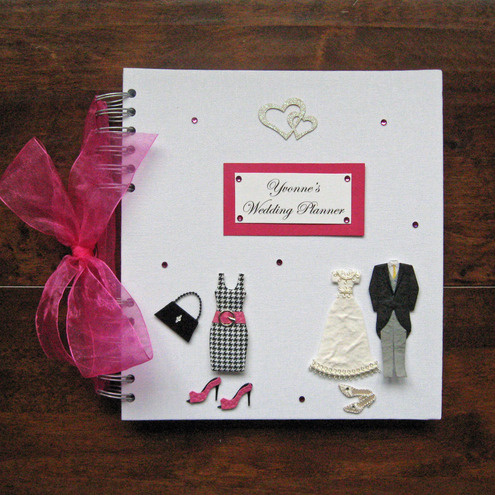 Rhodeshias blog bride 39s wedding planning tote when he puts the personalised wedding planning book treat yourself or a great gift solutioingenieria Images