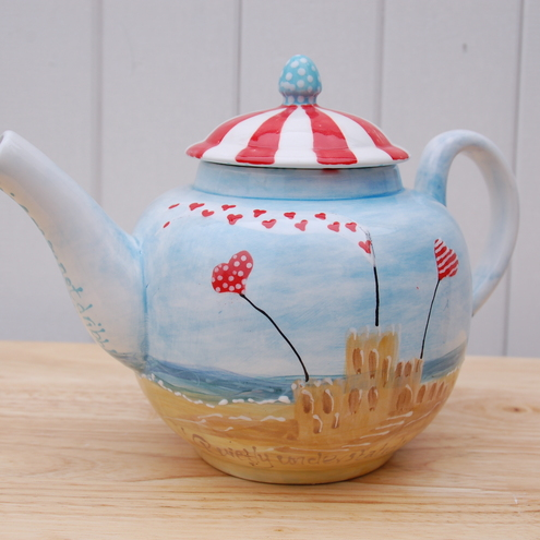 bespoke seaside teapot