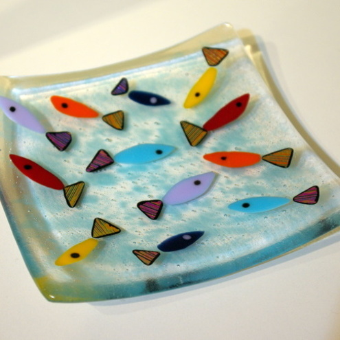 Fused Glass Pattern Bar Plate Purple | Flickr - Photo Sharing!