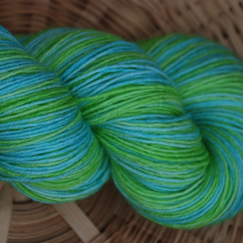 The Hen House - Hand dyed self striping sock yarn
