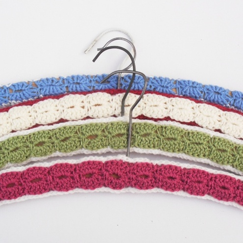Free Crochet Pattern Coat Hanger Cover : PATTERN FOR CROCHETING AROUND WOODEN HANGERS ? Easy ...