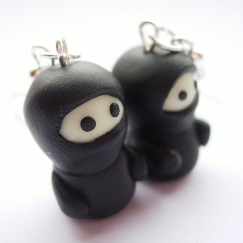Ninja earrings - photography tips