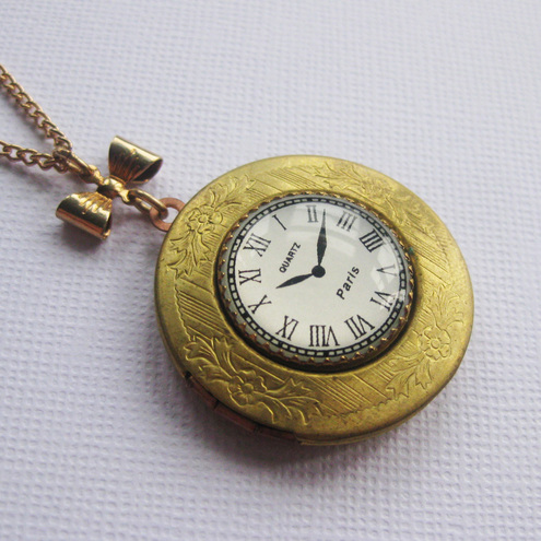 Clock Locket  £20.50 - Maria Allen