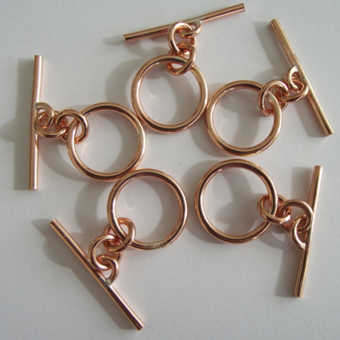 Pure copper toggle clasp jewellery findings