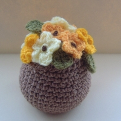 Crochet Flowering Plant by SophieCat