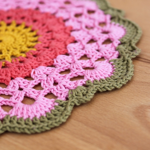 Folksy Buy Spring Pink Flower Large Crochet Doily Craftjuice