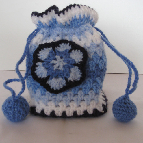 Crochet Small Bag : Folksy :: Buy Crochet small Granny bag Craftjuice Handmade Soci...