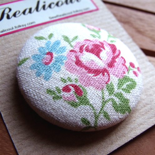 SewRealicoul handmade textiles - Floral Badge