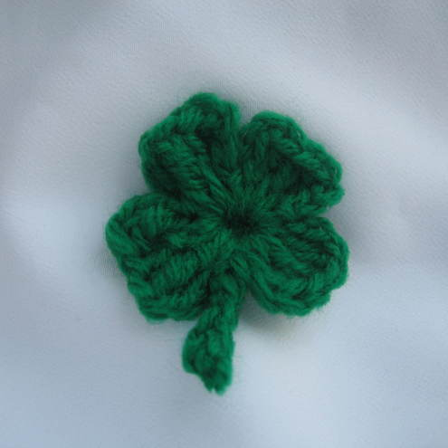 Lucky 4 leaf Clover Brooch