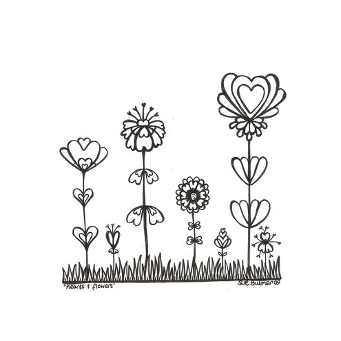 esaphbursio: coloring pages of hearts and flowers