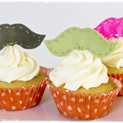 Moustache Cake Toppers