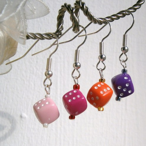 Joie de Vivre - Dice Drop Earrings