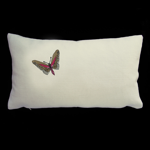 Maxemilia - Raja Embroidered Butterfly Cushion