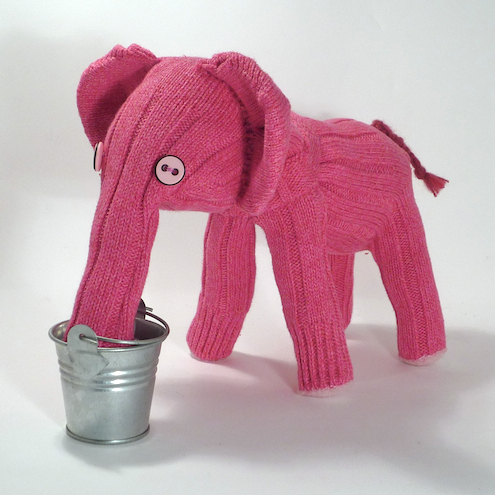 Effie the Pink Sock Elephant £12.00