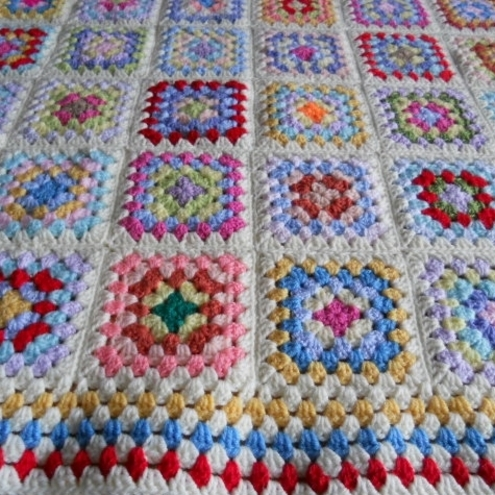 Crochet Patterns Lap Blankets : Crocheted Textured Reversible Lap Blanket - Afghans Charity