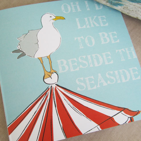 Seagull  Oh I do like to be beside the seaside card