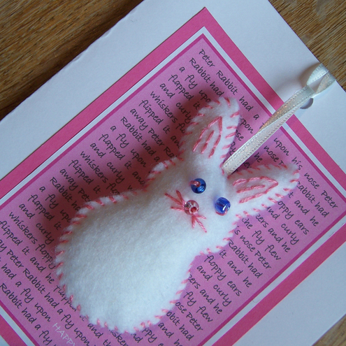 Easter Bunny Card with Decoration