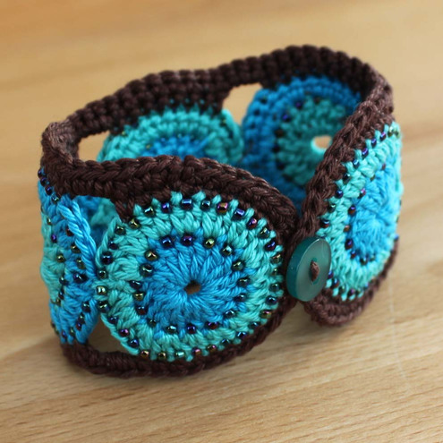 Crocheting Bracelets : CROCHET BEADED CUFF BRACELET PATTERN FREE CROCHET PATTERNS