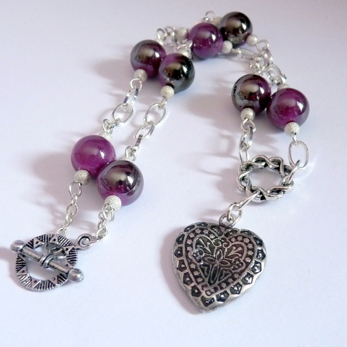 i love lucy heart. the upcycled heart charm