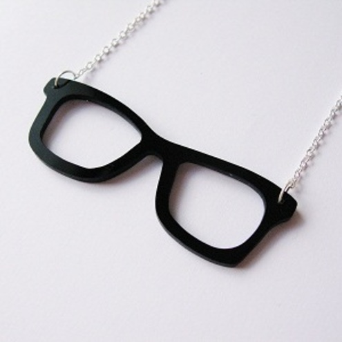 Cherryloco Jewellery - Geek glasses   necklace