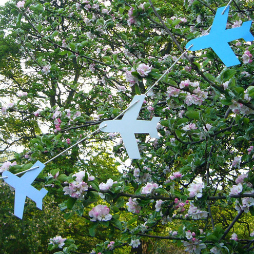Boys Aeroplane Garland Decoration