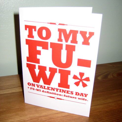 Cards For Fiance. Fiancé Valentines card FUWI