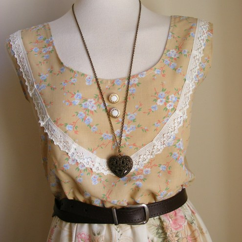 Cream Rose Dress