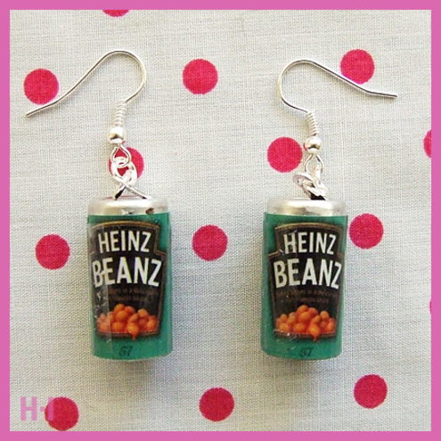 Kitsch Heinz Baked Beans Tin Earrings - Heroine Industries
