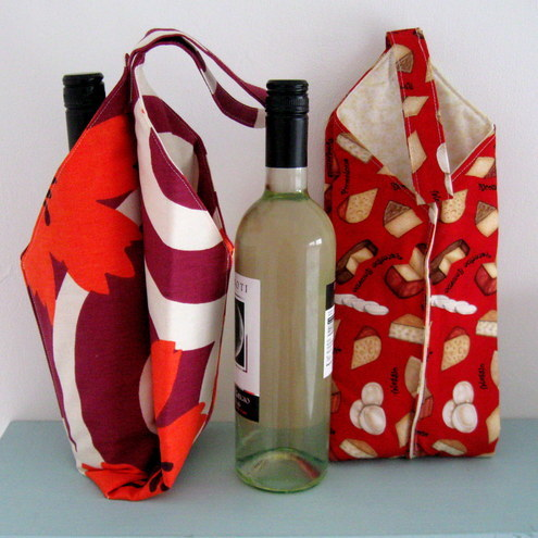 PDF Sewing Pattern Wine Bottle Carrier by Lillyblossom