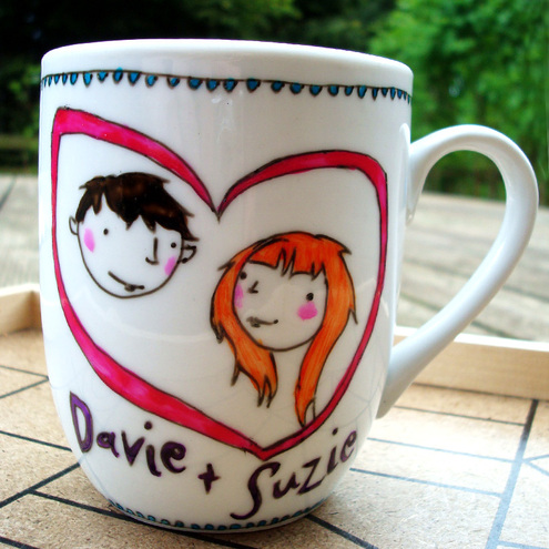 JoyNevada - Personalised Mug / Cup for Wedding or Engagement Gift, or just for your lover