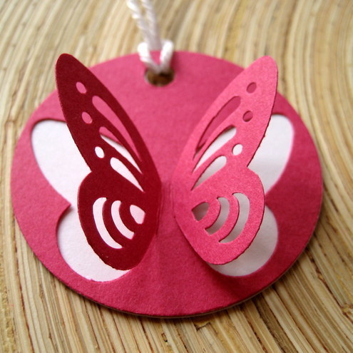 Ditzy Creations - Flight Of A Butterfly Gift Tags