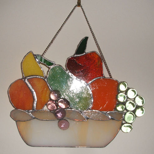 stained glass fruit bowl