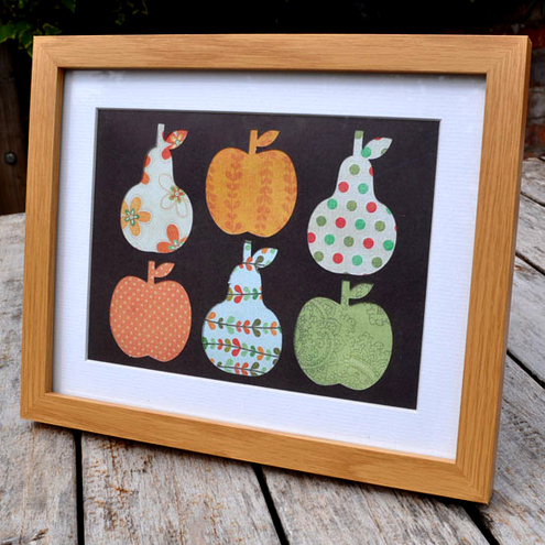 100percentdelicate - Apples and   Pears Framed Collage