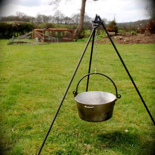 Rustic and Outdoor Cooking   Solutions by Handmade Matt - Bushcraft TRIPOD & BAG, Fire Camp Cooking, Trivet, Stove