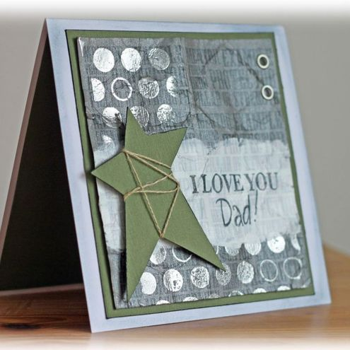 Father's Day Hand Stamped Greeting Card