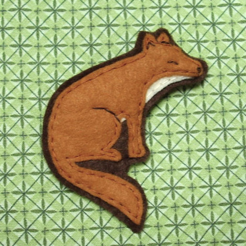Fox Brooch - Kate Broughton