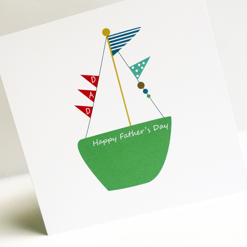 Father's Day Sail Boat Card