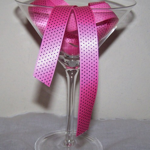 Hot Pink Swiss Dot Ribbon