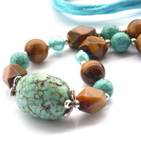 turquoise rocks necklace by Blue Forest Jewellery