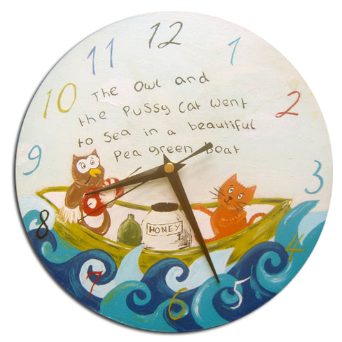 Owl and the pussy cat clock