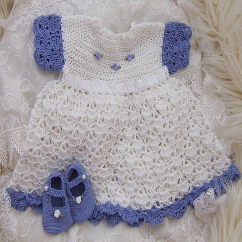 Crochet Ruffled Baby Dress Pattern : RUFFLED CROCHET BABY DRESS PATTERN ? Easy Crochet Patterns