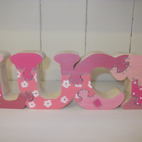 Klara's Crafts - Handmade Wooden Name Puzzle