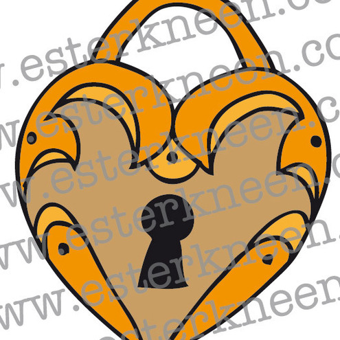 Heart Locket Temporary Tattoo
